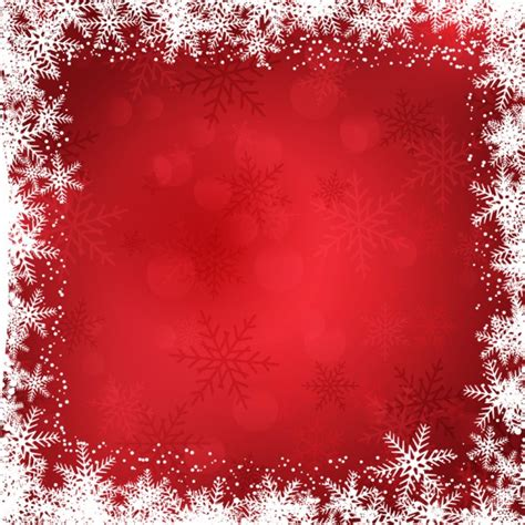 christmas background with snowflakes border vector free