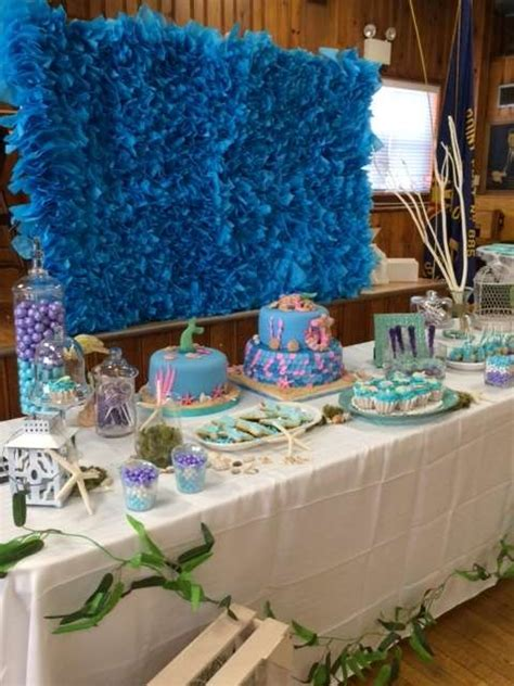 The Sea Table Decorations by The Sea Baby Shower Ideas Photo 9 Of 17