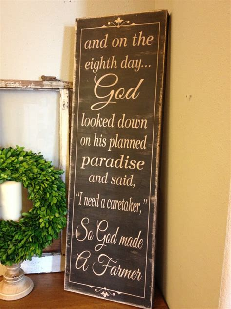 so god made a farmer 12x36 wood sign great christmas gift