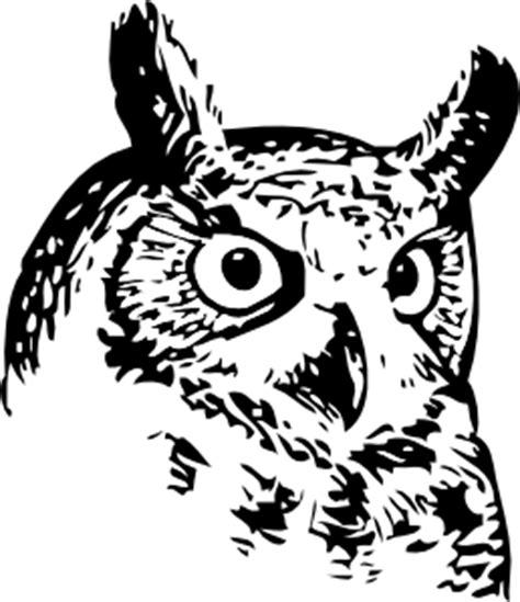 great owl clip art  clkercom vector clip art