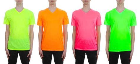 neon color shirts mens neon v neck t shirt by brave soul bright colour