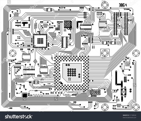 how to create digital doodle circuit board electronic background board