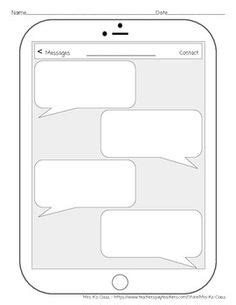 Iphone Template Text Message by Iphone Template Teaching School