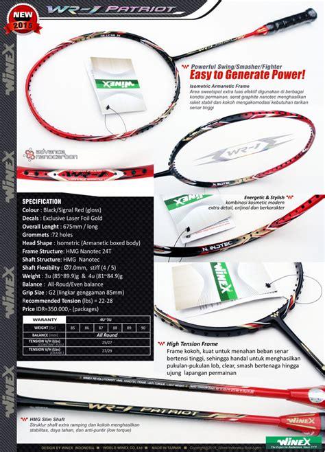 Raket Winex jual raket badminton winex wr 1 patriot paket lengkap