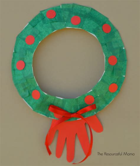 paper plate wreath kid craft the resourceful