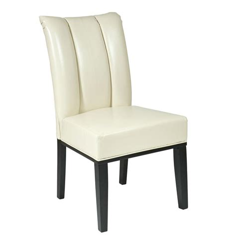 Eco Dining Chairs Ospdesigns Eco Leather Parsons Dining Chair Met89cm The Home Depot