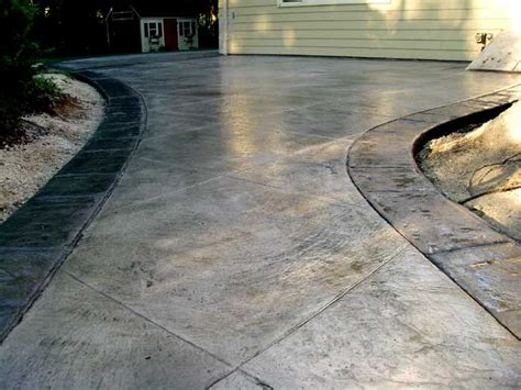 Backyard Ideas Patio Stamped Concrete With Stamped Border Backyard Living