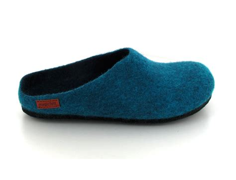 felt slippers magic felt 174 an709 felt slippers petrol
