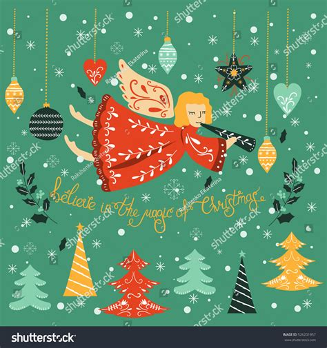 christmas cards shutterstock vector card lettering vector stock vector 526201957