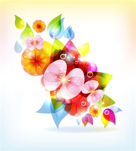 colored beautiful flowers design graphics vector flower abstract colorful flowers vector background free vector