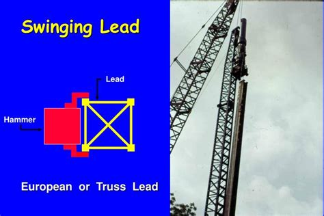 lead swinging ppt pile driving equipment powerpoint presentation id