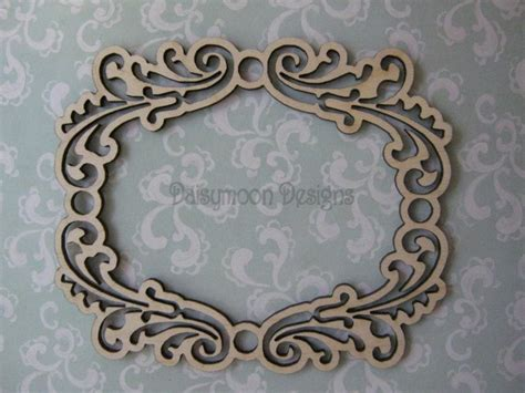 A Lovely Ornate Laser Cut Wooden Frame 14cmx 14cm Laser