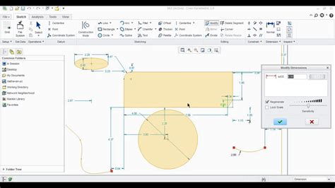 pattern sketch in creo creo tutorial 1 2d sketch basics youtube