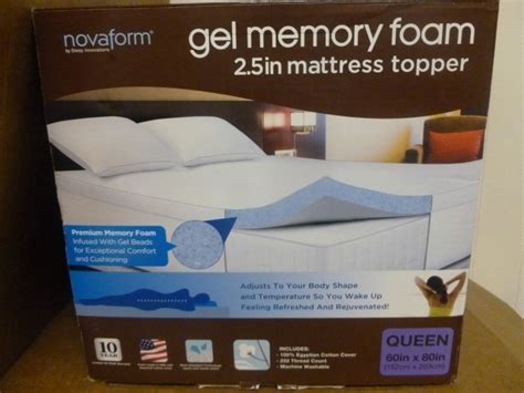 Novaform Mattress Box by New Sleep Innovation Novaform 2 5 Quot Gel Memory Foam Topper