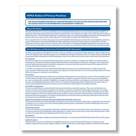 free printable hipaa poster hipaa privacy forms myideasbedroom com