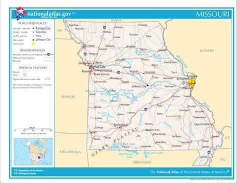 missouri in usa map map of missouri map worldofmaps net