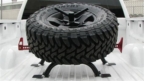 truck bed spare tire carrier bed mount tire carrier ford wilcooffroad com