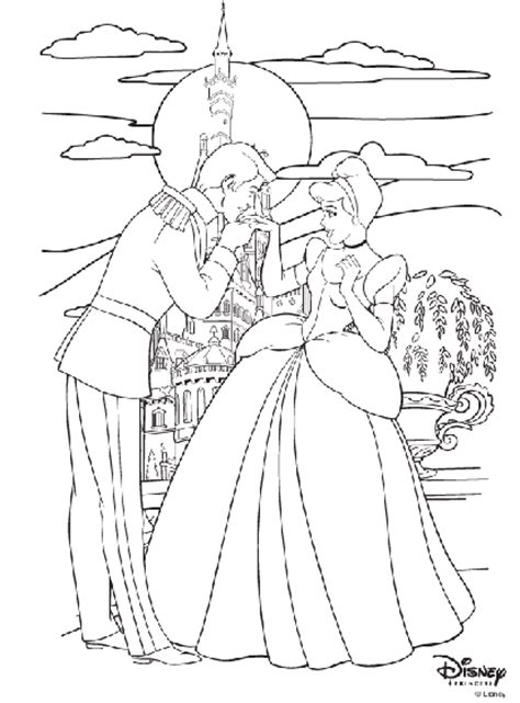 coloring pages of cinderella and prince charming disney princess cinderella and prince charming coloring
