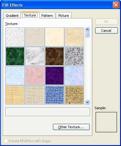 texture fill dialog digunakan untuk add texture fills to autoshapes in powerpoint 2003 and