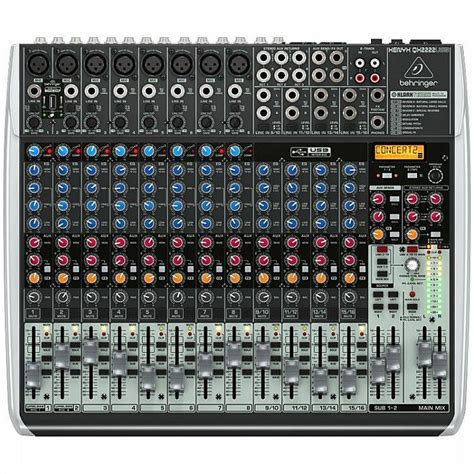 Mixer Ax 12 Usb12 Channel behringer behringer qx2222 usb xenyx 12 channel mixer tracktion 4 audio production software
