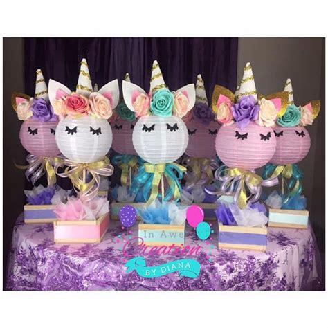 themes girl x2 unicorn centerpiece it s a girl unicorn centerpiece