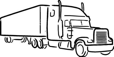 Galerry truck driver coloring page