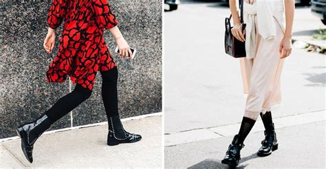 ways  wear  dresses  tights  boots