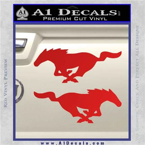 mustang stickers and decals ford mustang decal sticker 2pk 187 a1 decals