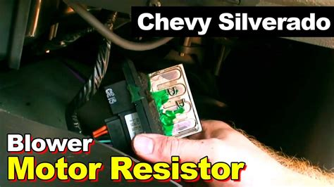 how do you replace a blower motor resistor on a 2003 chevy silverado ac wiring diagram for 1997 chevy tahoe autos post