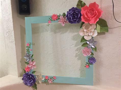 imagenes de flores para what marco para fotos decorado con flores de papel nuovodise 241 o