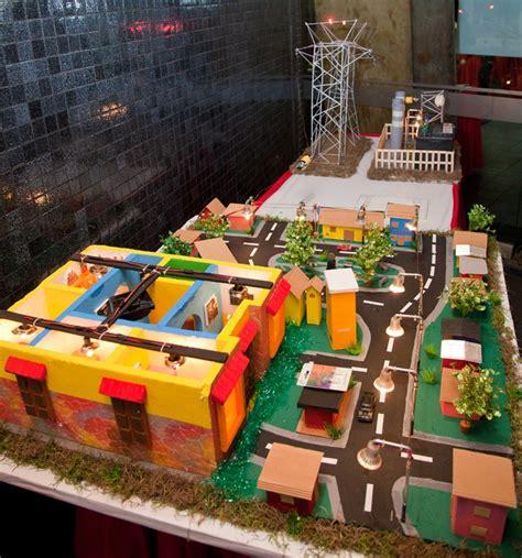 Diy Miniatur Papercraft Taman Safari maqueta de ciudad maquetas cardboard box