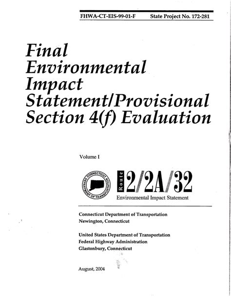 environmental statement template what is environmental impact statement