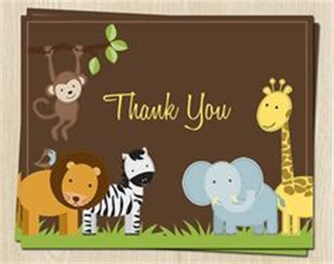 unisex thank you card template free jungle invitation template jungle jungle animal