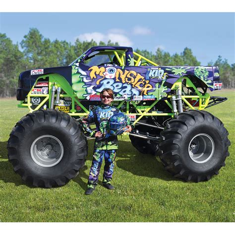 monster jam toy trucks for sale the mini monster truck hammacher schlemmer