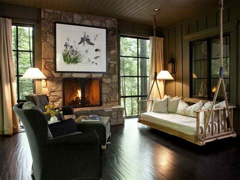 decoration modern rustic cabin decor with color