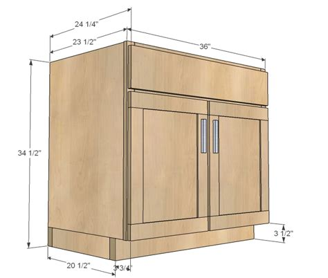 standard kitchen base cabinet dimensions ana white kitchen cabinet sink base 36 full overlay face