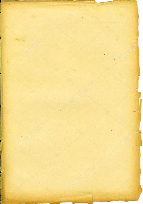 From Paper - yellowed paper sheet from book stock photo
