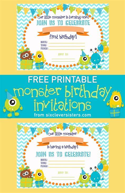 birthday invitations printable free printable birthday invitations six clever