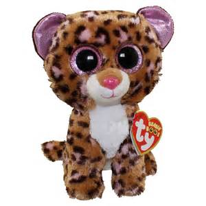 ty beanie boos patches brown amp pink leopard glitter eyes regular size 6