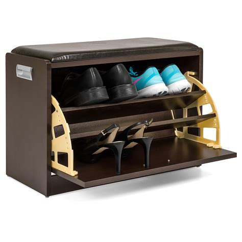 shoe storage ottoman bench best choice products wood shoe bench storage ottoman shelf