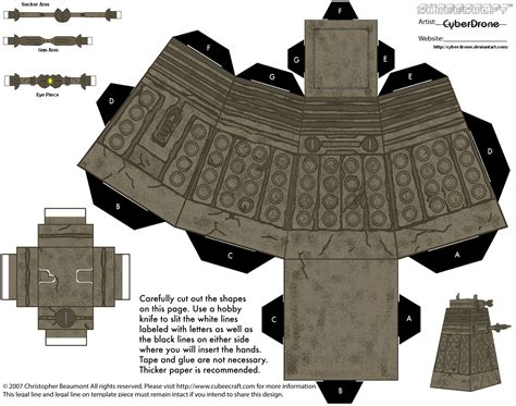 Papercraft Dalek - wp images doctor who dalek post 7