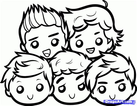 coloring book big fella how to draw chibi one direction one direction boys step