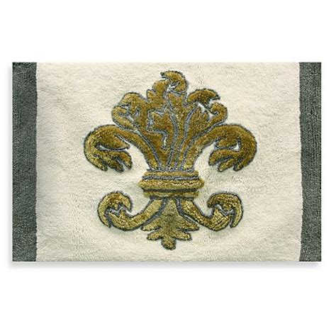 fleur de lis bath rug buy fleur de lis bath rug from bed bath beyond