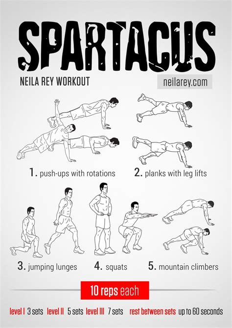 spartacus workout works lateral abs glutes shoulders triceps chest quads front