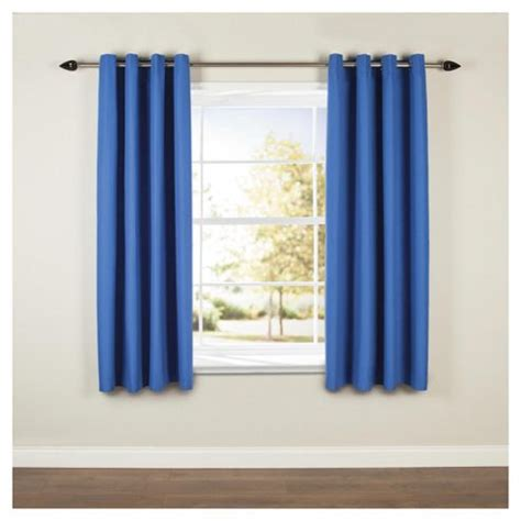 blue blackout eyelet curtains buy blackout curtains w168xl137cm 66x54 blue from
