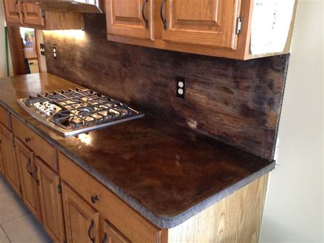 Staining Concrete Countertops by Acid Stain Concrete Countertops Kitchen