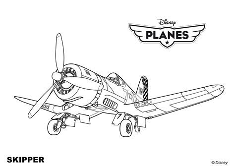 Skipper Coloring Pages Free Coloring Pages Of Planes Skipper