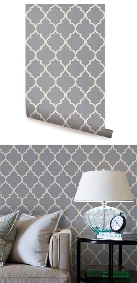 moroccan dark gray peel stick wallpaper