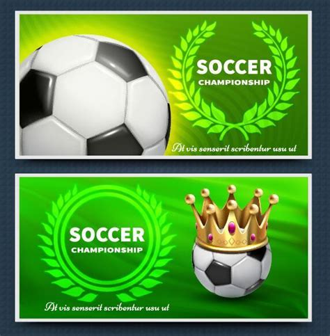 Green Soccer Banner Template Vector Free Download Soccer Banner Template
