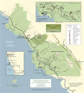 map california state parks salt point state park sonoma hiking trails